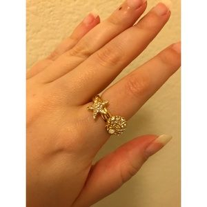 Coach Seashell & Starfish Gold Rings